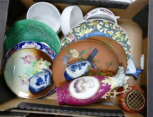 A mixed collection of items to include: decorative