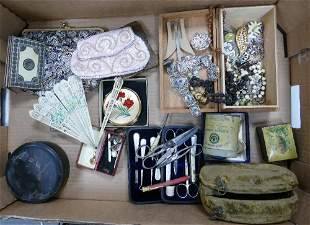 A mixed collection of items to include: costume