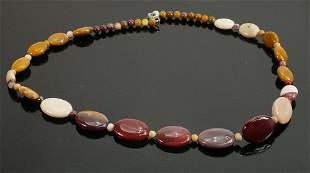 Vintage polished stone necklace: