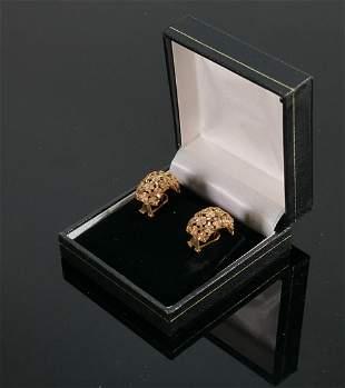 9ct Spanish Candela pair of half hoop earrings : QVC