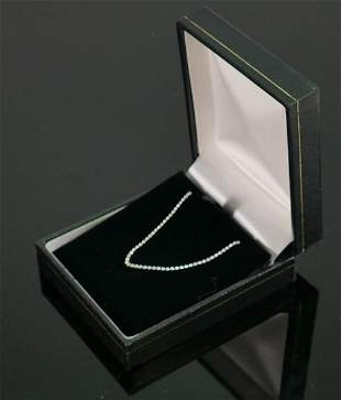 Sterling silver necklace, QVC brand new and boxed.size
