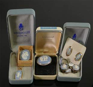 A collection of Wedgwood jasperware jewellery: