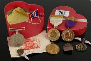 A collection of first and second world war medals:
