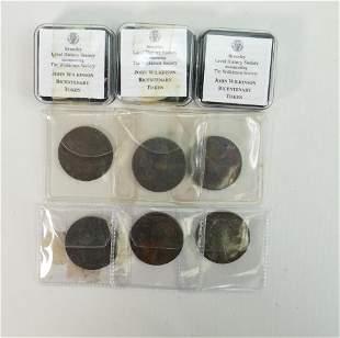 6 x 18th century John Wilkinson Ironmaster tokens: 4 x