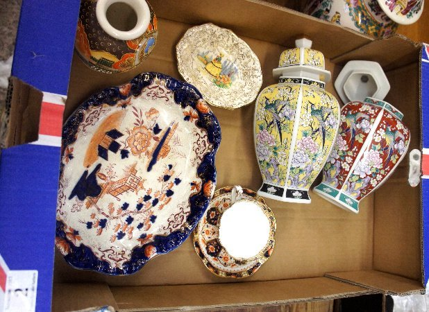 A collection of Pottery to include Modern Oriental