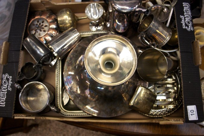 A collection of Silver plated EPNS items to include