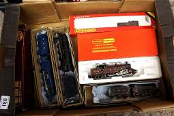 A collection of Hornby railway engines and tenders some