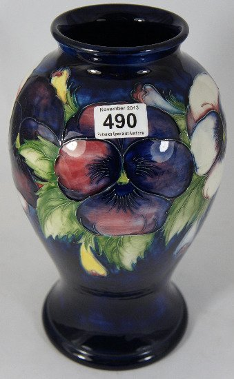 Moorcroft large Vase decorated in the Pansy design,