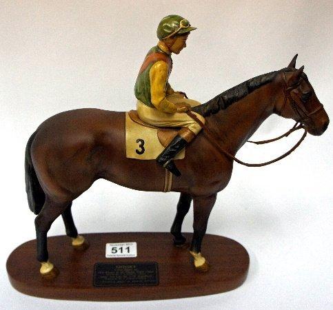 Beswick Coinnoissuer Racehorse Nijinsky with Lester