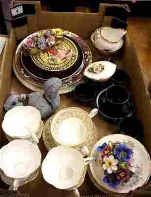A collection of Pottery to include various plates, wedg