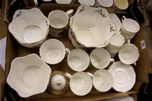 A collection of pottery items to include Aynsley Pembro