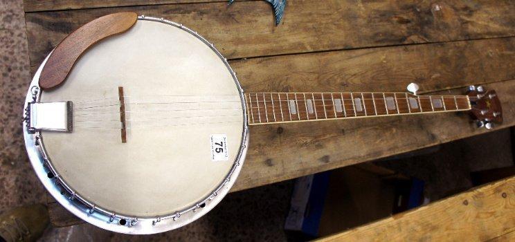 Japanese 5 String Banjo, no makers mark, made in Japan