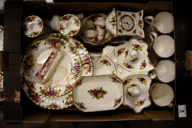 A collection of Old Country Roses dinner ware to