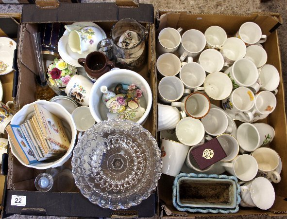 A collection of pottery to include Commemorative |Cups,