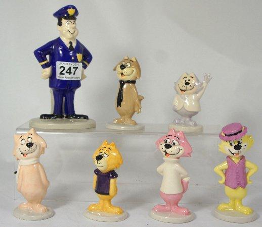 Beswick Top Cat Set comprising figures Officer Dibble,