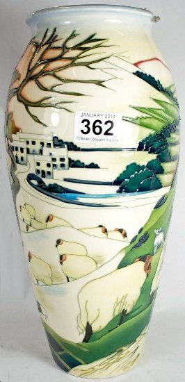 Moorcroft large Trial vase decorated in Swaledale