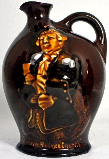 Royal Doulton Kingsware Dewars Whiskey Flask Bonnie