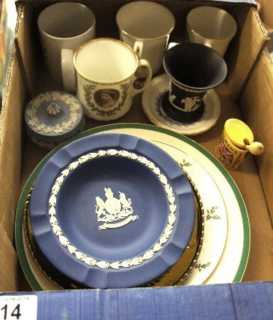 A collection of pottery to include Spode Christmas Tree