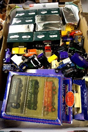 Collection of various car, trucks and other toys to