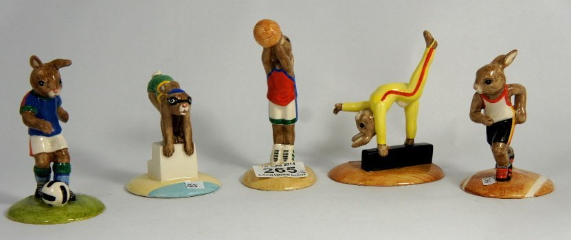 Royal Doulton Bunnykins set of Olympic games figures