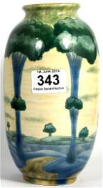 Cobridge Stoneware trial vase decorated in the