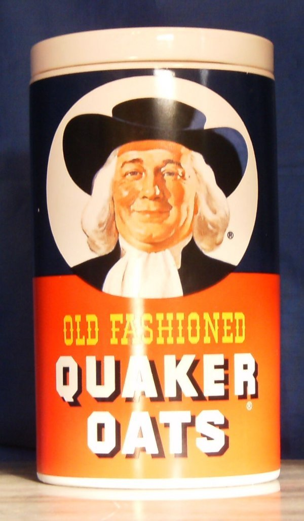 2: OLD FASHION QUAKER OATS, ADVERTISING COOKIE JAR UNMA