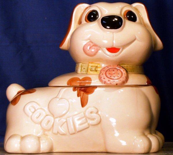 10: I LOVE COOKIES PUPPY, UMARKED COOKIE JAR COOKIE JAR