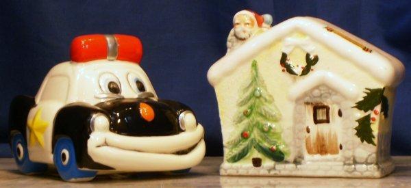 24: 2 BANKS, POLICE CAR BY ENESCO & CHRISTMAS HOUSE BAN