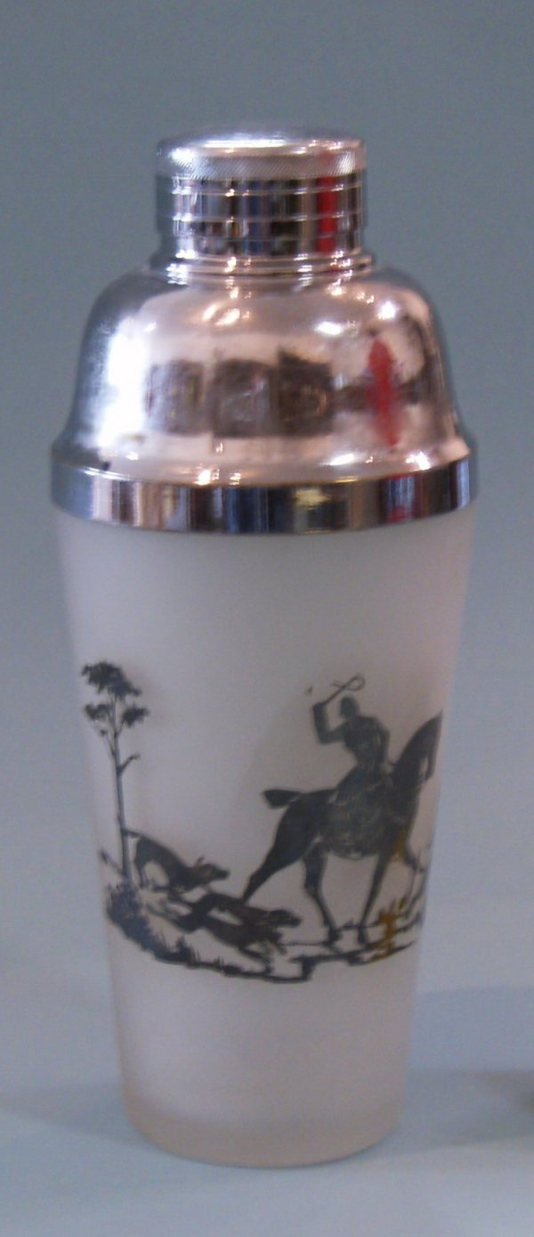 2020: Cambridge Fox Hunt Cocktail Shaker Silver Overlay