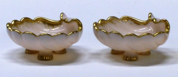 2705: Pair Crown Tuscan #37 Shell Footed Cambridge