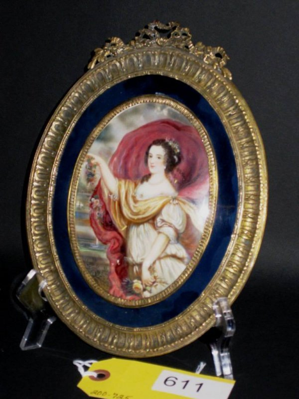 SMALL IVORY PAINTING