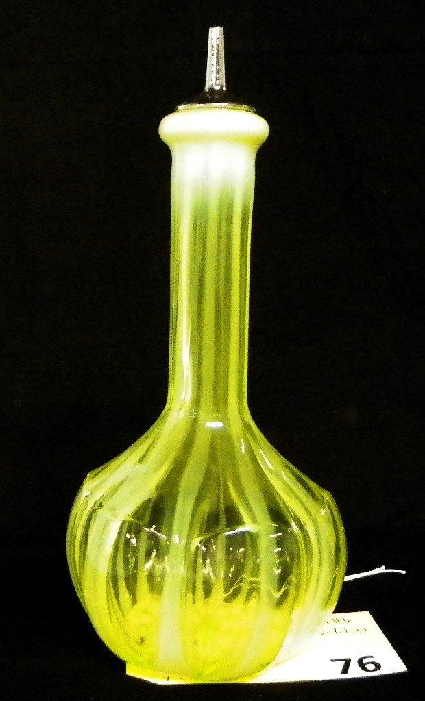 76: VASELINE GLASS BARBOR BOTTLE