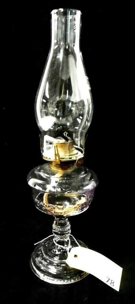 78: VICTORIAN KEROSENE LAMP