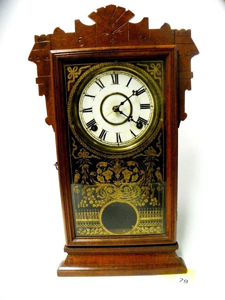 79: GINGERBREAD MANTLE CLOCK