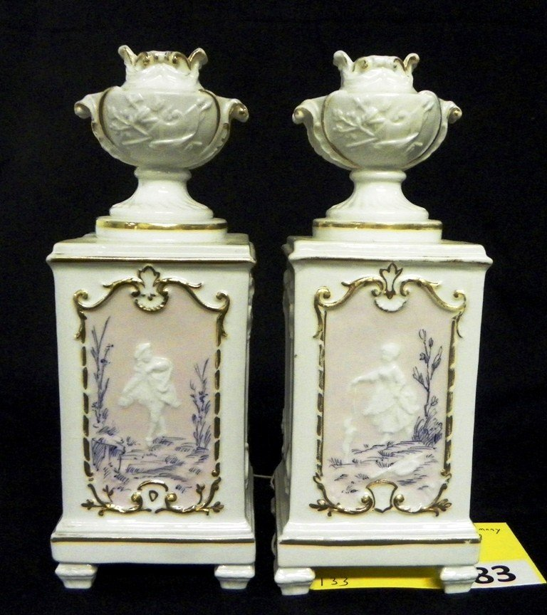 83: GERMANY FINE CHINA CANDLE HOLDERS