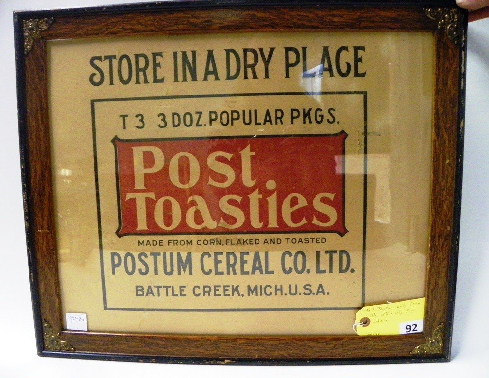 92: EARLY POST CEREAL ADVERTISING