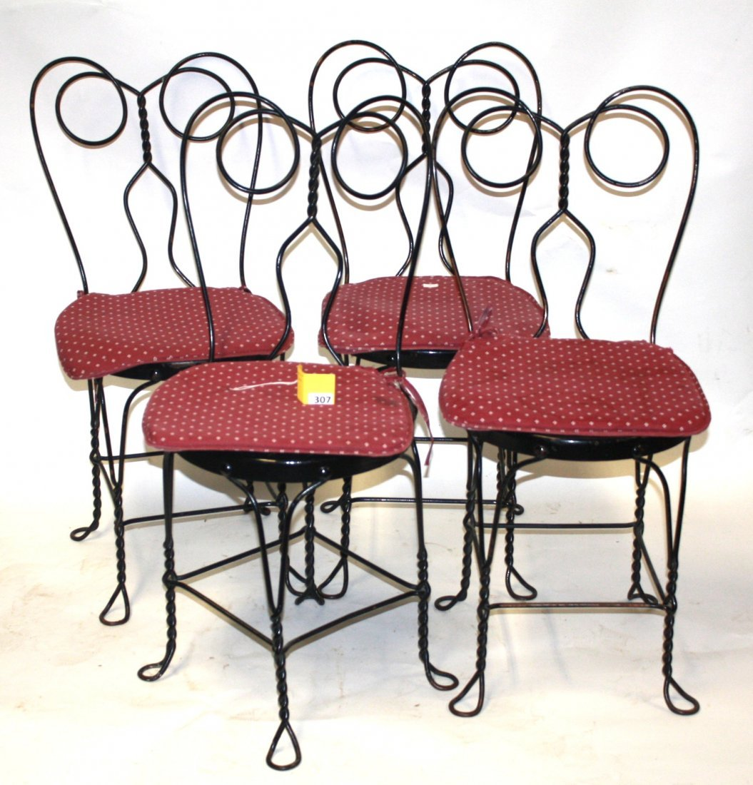 307: WROUGHT IRON ICE CREAM CHAIRS