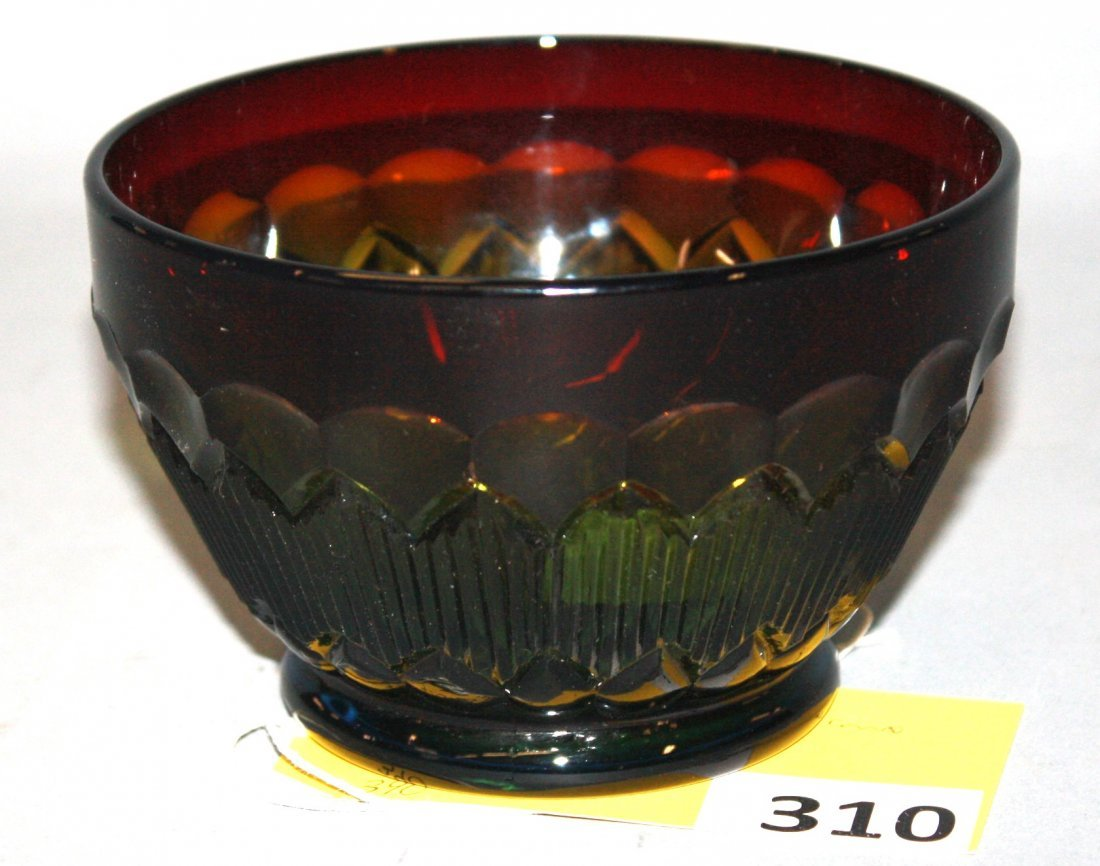 310: GREEN AMBERINA BOWL