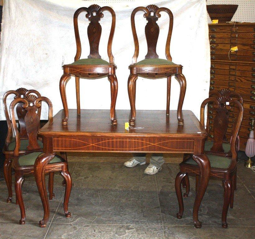 353: MAHOGANY DINING TABLE