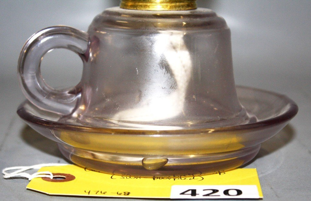 420: CUP & SAUCER FINGER LAMP