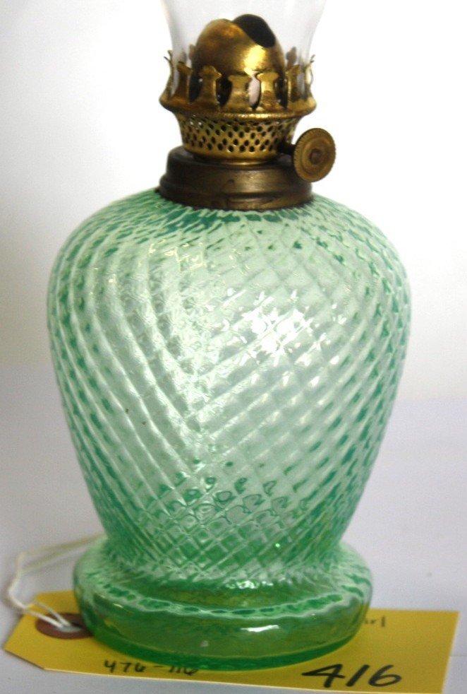 416: DIAMOND SWIRL OIL LAMP