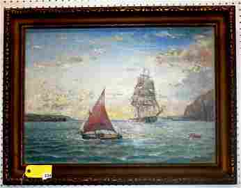 104: WILLIAM A COULTER OIL ON CANVAS