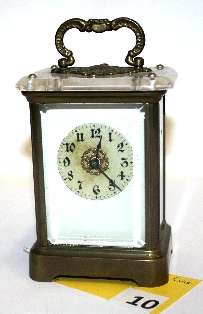 10: WATURBURY CARRIAGE CLOCK
