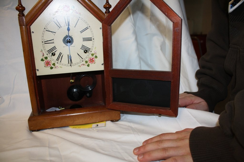 3: SETH THOMAS MANTLE CLOCK - 3