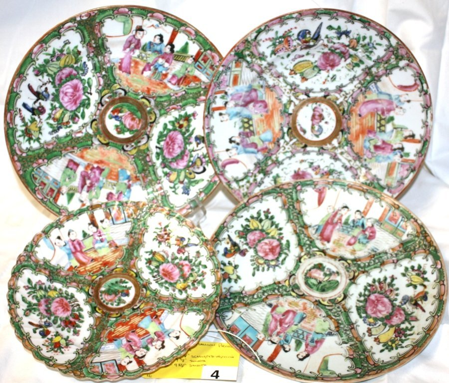 4: CHINESE ROSE MEDALLIOM PLATES