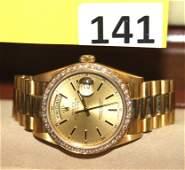 141: 18K GOLD ROLEX WATCH