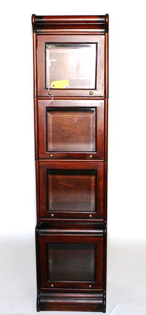 MAHOGANY STACKING BOOKCASE