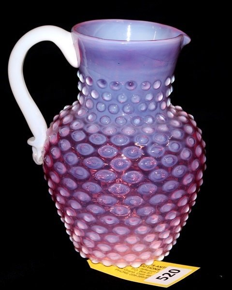 OPALESCENT CRANBERRY PITCHER