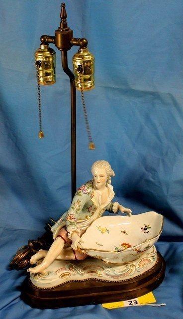 PORCELAIN FIGURAL LAMP