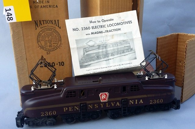 LIONEL 2360 GG-1 CAR, GOLD STRIPE, DECALED LETTERING